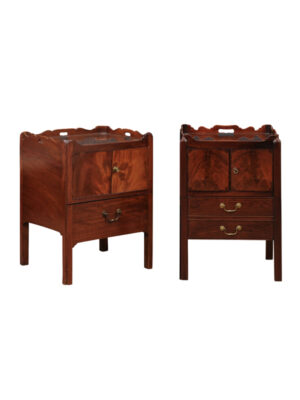 Pair George III Mahogany Bedside Commodes