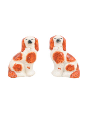 Pair Staffordshire Spaniel Dogs
