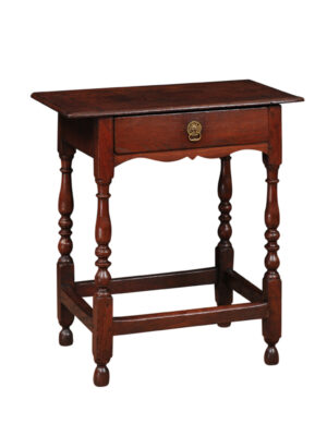 Petite 18th Century English Oak Side Table