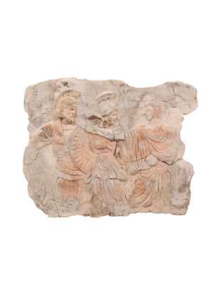 Plaster Plaque with Romans