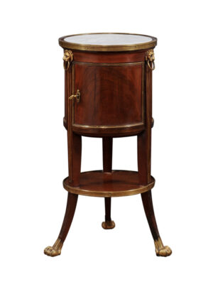 19th C. French Mahogany Gueridon Cabinet