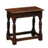 19th Century English Carved Oak Joint Stool