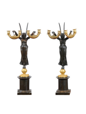 Impressive 19th C. Empire Candelabra