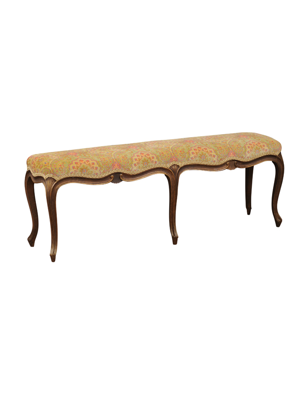 Louis XV Style Painted Long Bench