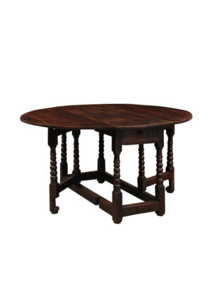 18th Century English Oak Gate Leg Table