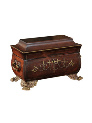 Pagoda Form Rosewood Work Box