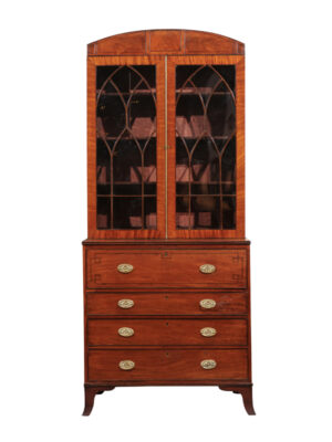 Regency Style Secretary Bookcase