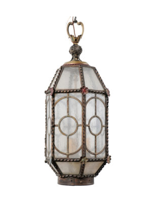 Tole Lantern with Floral Detail