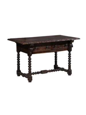 18th C Spanish Walnut Library Table