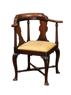 18th Century English Mahogany Corner Chair