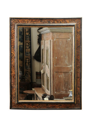18th Century Italian Faux Marbleized Mirror