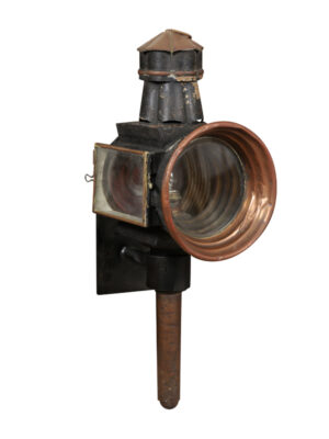 19th Century English Copper Coach Lantern