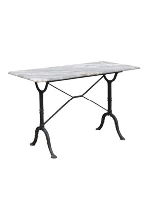 19th Century French Iron & Marble Console Table