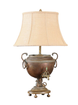 Copper & Brass Samovar Lamp