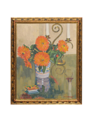 Framed Still Life of Marigolds
