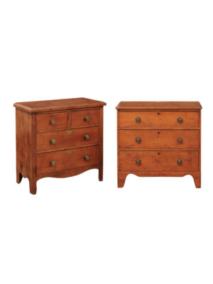 Pair 19th Century American Painted Chests