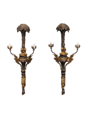 Pair 20th Century Italian Figural Sconces