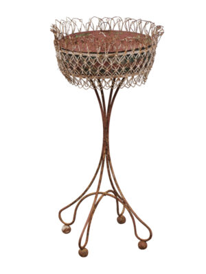 Round French Wire Plant Stand