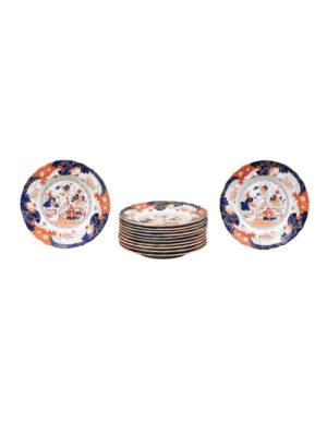12 Ironstone Dinner Plates