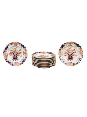 12 Mason's Ironstone Dinner Plates