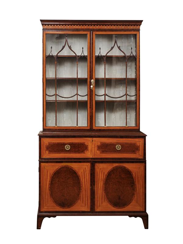 18th Century English Satinwood Secretary Bookcase