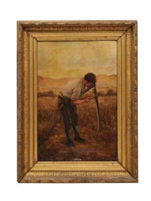 19th Century American Oil on Canvas Portrait
