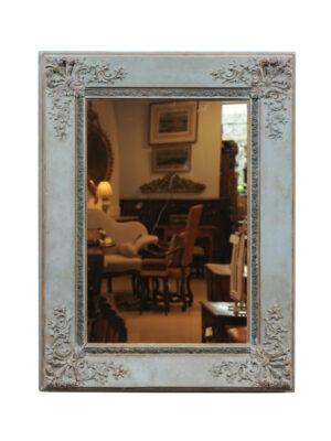 19th Century English Blue Painted Mirror