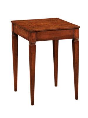 19th Century Italian Inlaid Walnut Side Table