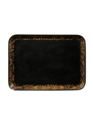 Regency Black & Gilt Paper Mache Tray
