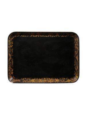 Regency Black & Gilt Paper Mache Tray