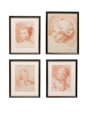 Set Red Chalk Portraits