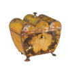 19th C. English Painted Tole Tea Caddy