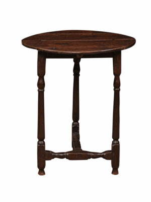 19th Century English Oak Cricket Table