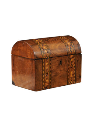 19th Century English Rosewood Dome Top Box