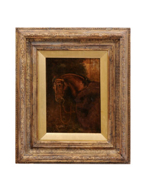19th Century Framed Horse Painting