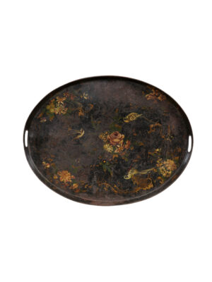 19th Century Franch Painted Tole Tray
