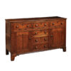English Oak Dresser Base wtih Parquetry Inlay