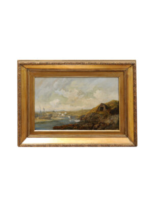 Giltwood Framed 19th Century Landscape of Liverpool