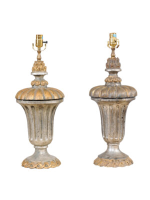 Neoclassical Style Gilt & Silver Lamps