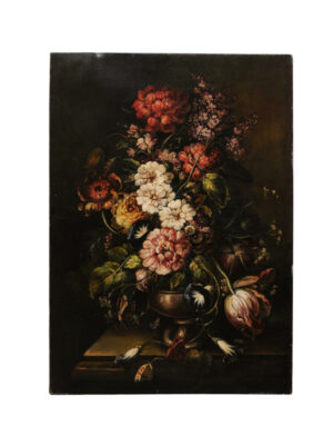 Oil on Canvas Floral Still Life Painting