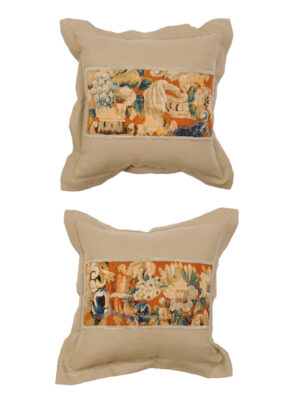 Pair of Pillows w 18th Century Tapestry