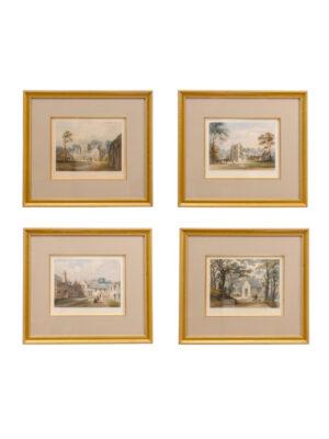 Set 19th Century English Landscape Lithographs