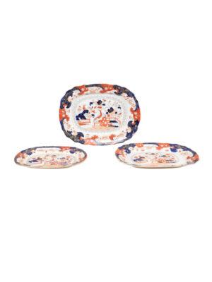 Set 19th Century Ironstone Platters
