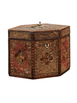 18th C. English Rolled Paper Tea Caddy