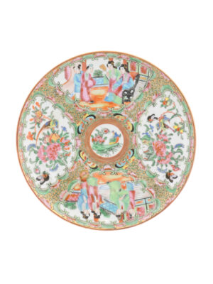 19th C Chinese Export Rose Medallion Plate