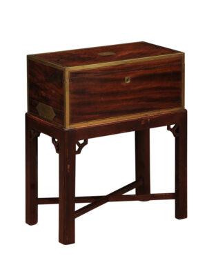 19th C. English Mahogany Lap Desk on Stand