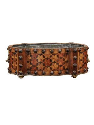 19th C. French Parquetry Inlaid Jardiniere