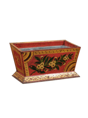 19th C. Red Painted Tole Planter