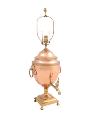 19th Century Copper Samovar Lamp