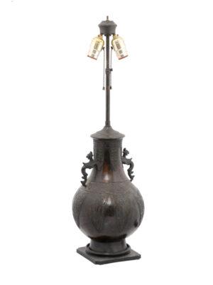 20th Century Asian Bronze Lamp